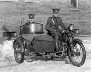 STATE POLICEMEN MOTORCYCLE VINTAGE HARLEY DAVIDSON SIDECAR PHOTO