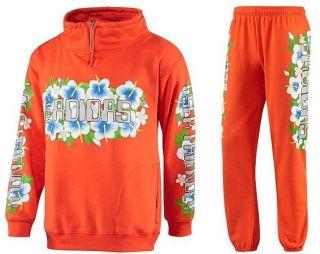 Jeremy Scott Hawaiian Sweat Suit MEDIUM M Shirt Top & Pants Hawaii