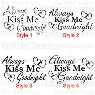 ... Always Kiss Me Goodnight Wall Decal In Decals, Stickers U0026 Vinyl Art ...