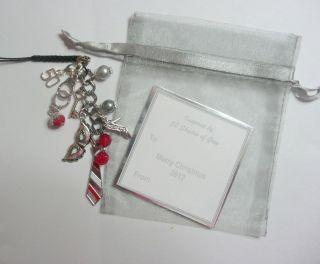 of Grey Inspired Mobile Phone/Bag Charm Gift Bag & Tag Christmas Gift
