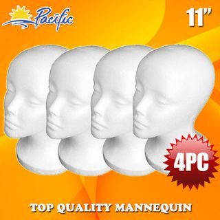 4PCS 11STYROFOAM FOAM MANNEQUIN MANIKIN head wig display hat glasses