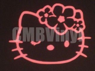 Hello Kitty Hawaii Flower Vinyl Decal/Sticker Car Truck Laptop Window