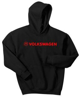 VW VOLKSWAGEN HOODIE SWEAT SHIRT BLACK JUMPER PULLOVER JACKET