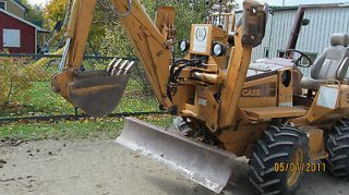 DITCH WITCH R65G 4x4, ES24 EARTH SAW ROCK SAW TRENCHER RUNS GREAT NO