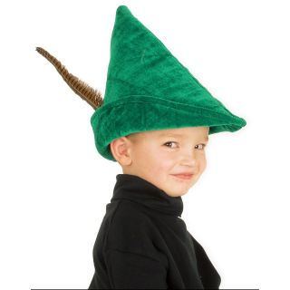 New Elope KID PETER PAN Hat Kelly Green ROBIN HOOD Child 3 12 years