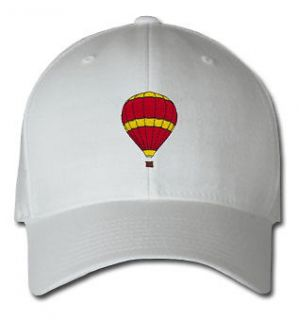 HOT AIR BALLOON AIRCRAFT SPORTS SPORT EMBROIDERED EMBROIDERY HAT CAP .