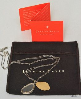 JEANINE PAYER SS 18K Crystal Wing Double Strand Necklace Rumi Quote
