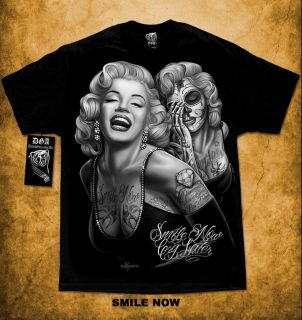 Marilyn Monroe Smile Now Cry Later Tattoo DGA David Gonzales Homies