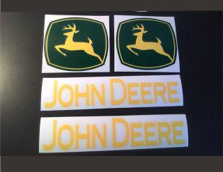 John Deere 4 piece set Tractor vinyl decals