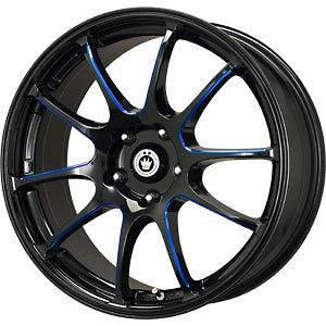 New 18X8 5x100 KONIG Illusion Black Wheels/Rims
