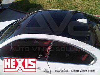 Hexis Gloss Black Vinyl Car Wrap Film 5ft x 5ft (25sq/ft)