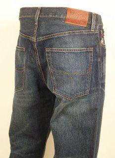 POLO RALPH LAUREN Cortlandt 300 Relaxed Fit Dark Denim Mens Pants New