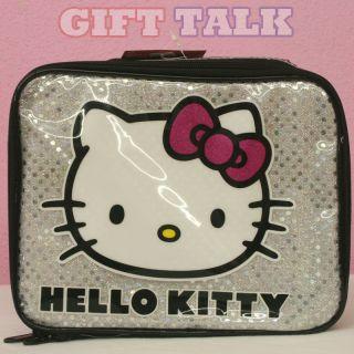 Sanrio Hello Kitty Lunch Case, Snack Box   Kitty w/Shining Beads BG