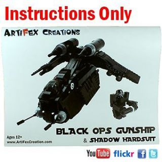 ONLY Custom Black OPs Gunship Lego Star War 7676 Republic Attack