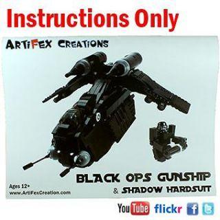 ONLY Custom Black OPs Gunship Lego Star War 7676 Republic Attack