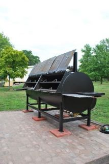 BBQ SMOKER STATIONARY PIT 9,440 sq. in 65.5 sq ft HOG COOKER PIG