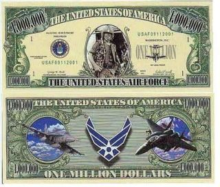 USA Banknote NM 4 United States Air Force Million