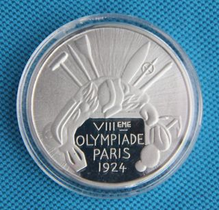 1924 Paris Olympic Winner Silver Medal Commemorative Coin