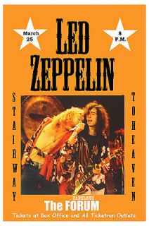 Classic Rock Led Zeppelin at The Forum Los Angeles Concert Poster