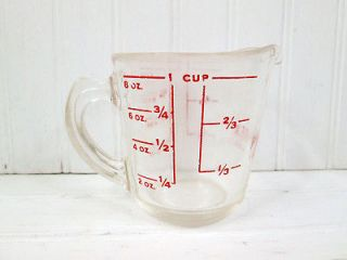 Vintage Pyrex Glass Measuring Cup Liquid 1 Cup Closed Handle 508
