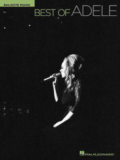 of Adele Big Note Piano Easy Sheet Music Lyrics 10 Pop Songs Book NEW