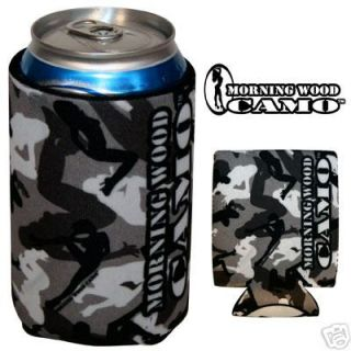 Urban Morning Wood Camo can cooler koozie bootycamo