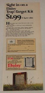1972 DAISY Trap Target Kit bb gun air rifle ad