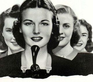 Vintage Ad~ 1947 Bell TELEPHONE 80,000 Girls Added ~Operators,Clerks