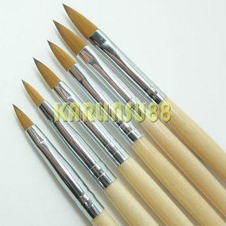 Different Size Professional Acrylic Nail Art Brush Wood Handle