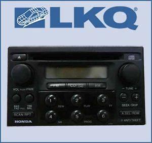 1999 00 2000 Honda Accord 2 Door Coupe Single Disc CD Player Radio OE