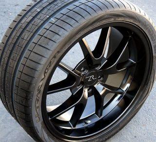 20 Inch Black Mustang FR500 Wheels & Tires 2005+ Vredestein Wide tires