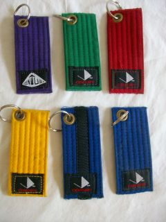 Martial Arts Belt Key Chain Taekwondo Judo Karate Ju Jitsu Kung Fu