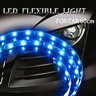 Flexible Amber 30 LED Neon Car Strip Light SMD 60cm 12V