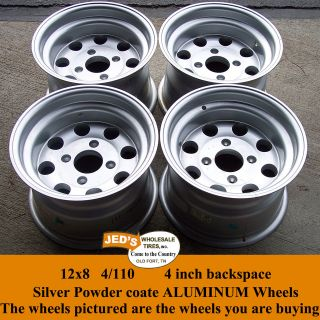 12x8 4/110 RIMS WHEELS for Mini Trucks / ATV Honda Kawasaki Yamaha