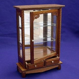 WOODEN DISPLAY CABINET FOR DOLLHOUSE MINIATURE (W84A)