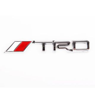 New 3D Car Decor Decal Badge LOGO Emblem For TOYOTA TRD LOGO Red&White