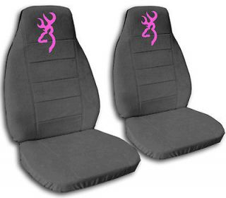 cute CAR SEAT COVERS Chevy TRAILBLAZER VELOUR charcoal gray with