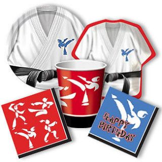 Martial Arts BLACK BELT KARATE Birthday Party Supplies ~ Pick Only