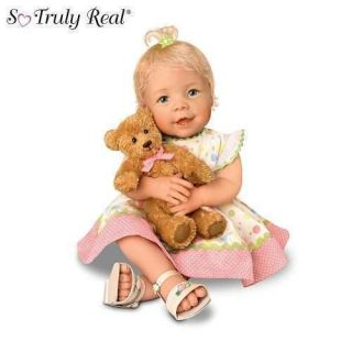 Ashton Drake BEARY SWEET MESSAGESl 20 Baby GIRL DOLL w/ Recordable