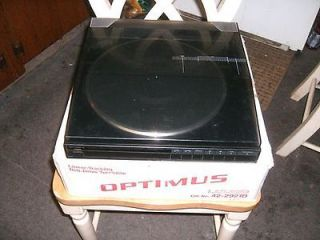 Optimus   Lab 2250 Linear Tracking Belt Drive Turntable