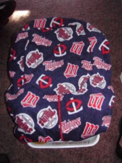 NEW Minnesota TWINS fleece Baby Infant Carrier Cover sewn by Grandma