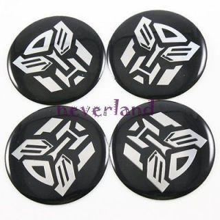 Quality Transformers Autobot Car Hub Cap Wheel Center Emblem Stickers