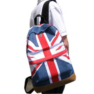 Girls Boys UK Flag Union Jack Print Backpack Schoolbag Canvas Bags 3
