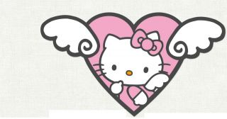 HELLO KITTY ON A CLOUD ANGEL WINGS WALL SAFE STICKER CHARACTER