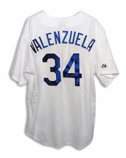 Fernando Valenzuela Autographed Dodgers Majestic Jersey