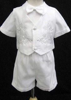 MEDIUM/6 12 M Baby Boy /girl Tuxedo suit Christening Baptism dress