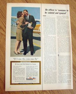 1967 Cessna 150 Airplane Ad If I can Fly You can Fly