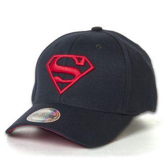 Superman Baseball Cap Flexfit Spandex Hat Black WD0001 New