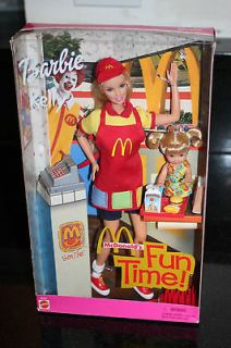 McDonalds Fun Time Barbie & Kelly Doll Playset (2001; 29395)
