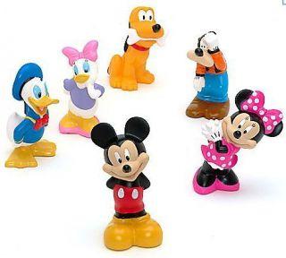 BN Disney Mickey Mouse Bath Toy Figure Set Minnie Donald Daisy Duck